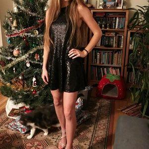 Black Sequined Dress